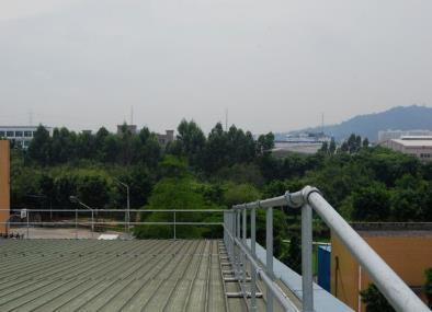 雅培广州营业品屋面护栏案例